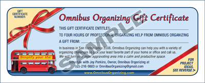 Gift Certificates Omnibus Organizing – Wording for Gift Certificates